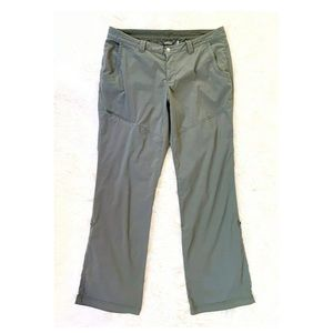 EDDIE BAUER Gray Nylon Roll Up Hiking Pants